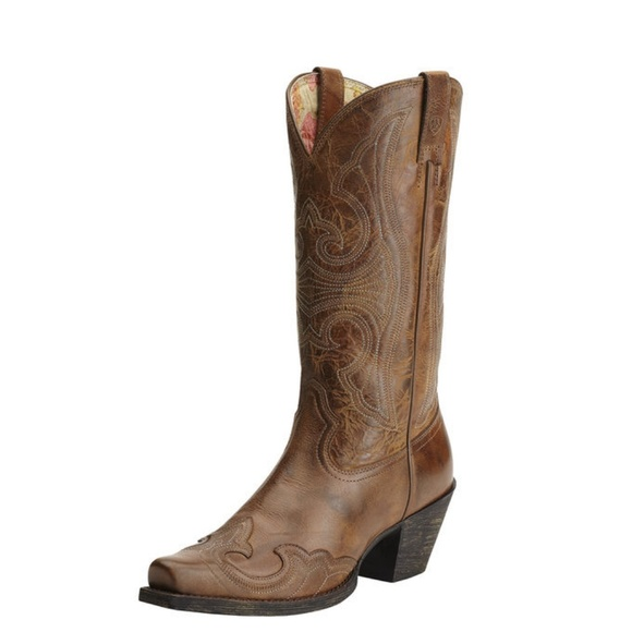 dab08b9bf Ariat Shoes | Round Up Snip Toe Cowboy Boots | Poshmark